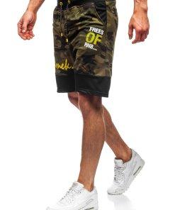 Pantaloni scurți de trening kaki Bolf KK300159