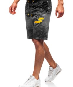 Pantaloni scurți de trening grafit Bolf KK300163