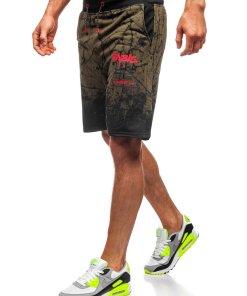 Pantaloni scurți trening kaki Bolf KK300162