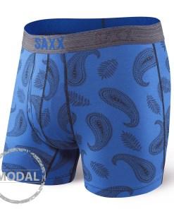 Boxeri barbatesti SAXX Platinum Paisley Blue