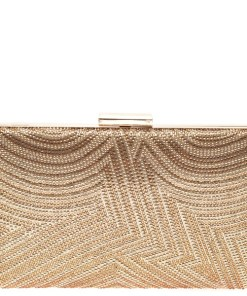 Poseta plic MARINA GALANTI aurie, 1E01, din material textil