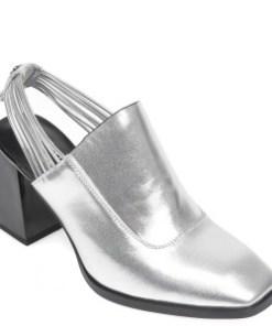 Saboti FLAVIA PASSINI argintii, 2091372, din piele naturala