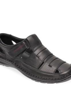 Sandale OTTER negre, 9562, din piele naturala