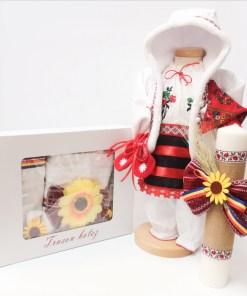 Set Traditional Botez Costumas fetita Trusou Lumanare 5