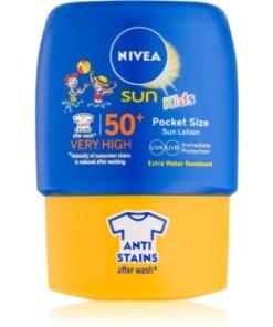 Nivea Sun Kids lapte de plaja de buzunar, pentru copii SPF 50+