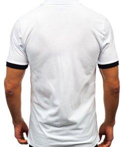 Tricou polo bărbat alb Bolf 171222