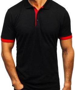 Tricou polo bărbat negru Bolf 171222