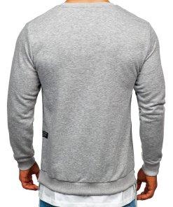Bluză cu imprimeu bărbați gri Bolf 11114