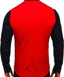 Pulover vestă bărbați roșu Bolf 2500
