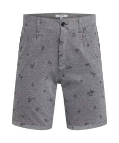 Only & Sons Pantaloni eleganti 'onsCUTON KNITTED PIQUE AOP SHORTS' gri