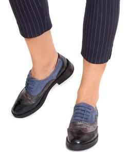 Pantofi dama Claudette Negru/Bleu