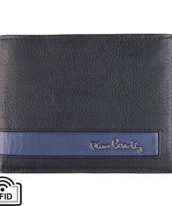 Portofel barbati din piele naturala Pierre Cardin GPB386 - cu Protectie RFID Negru-Albastru