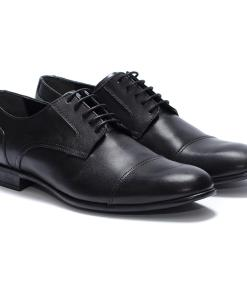 Pantofi barbati din piele naturala Roger model clasic Negru