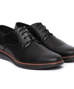 Pantofi barbati Virgilio cu aspect texturat Negru