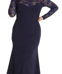 Rochie Maxi Plus Size Judit Albastra