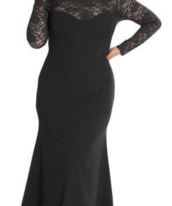 Rochie Maxi Plus Size Judit Neagra