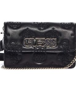 """GUESS Waist/ crossbody bag with logo embroidery """"Chic mini"""" Black"""