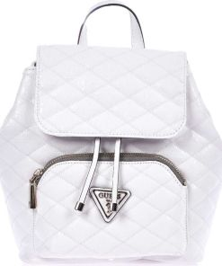 GUESS Small lacquered backpack White
