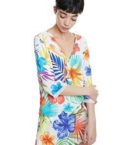 Bluza tip tunica cu model floral 2612452
