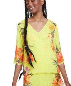 Bluza tip tunica cu model floral 2612457