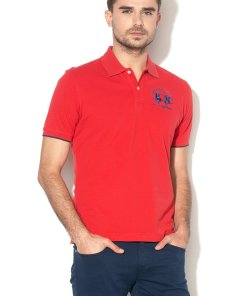 Tricou polo regular fit din material pique 2268933
