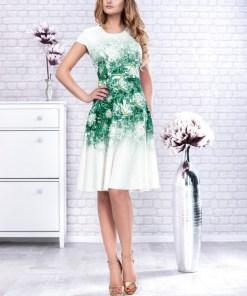 Rochie midi cu imprimeu floral 3D