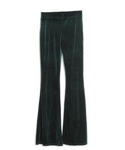 Pantaloni verzi, catifea