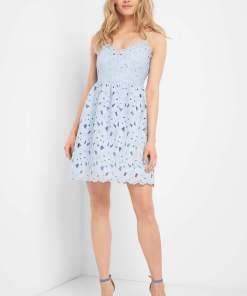 Rochie din dantelă Albastru