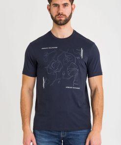 Tricou din bumbac cu imprimeu - 3HZTAX-ZJA5Z-1510