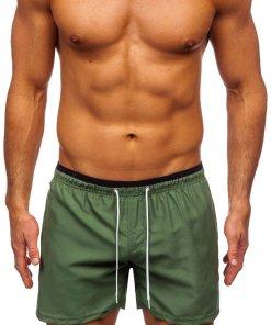 Pantaloni scurți de baie verzi Bolf ST006