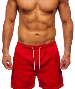 Pantaloni scurți de baie roșii Bolf ST001
