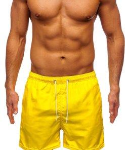 Pantaloni scurți de baie galben Bolf ST019