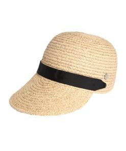ESPRIT Pălărie 'Rafia' bej / negru