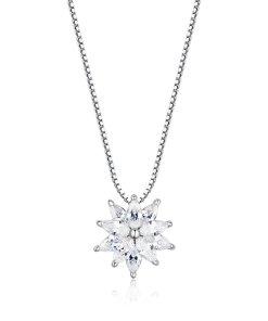 Colier din argint Sparkling Snowflake