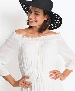 Pălărie de paie - negru