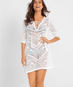 Rochie de plajă - alb
