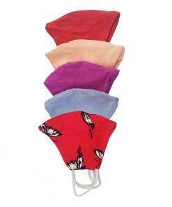 Set 5 masti din bumbac pentru copii multicolore