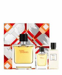 Set cadou Hermes Terre D'Hermes (Apa de parfum 75 ml + Apa de parfum 12.5 ml + After shave 40 ml), pentru barbati