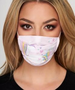 Masca de protectie StarShinerS roz deschis din material textil