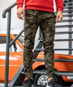 Pantaloni de trening camuflaj-kaki Bolf KA351