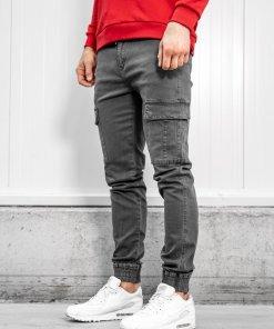 Pantaloni cargo barbati grafit Bolf KA1300