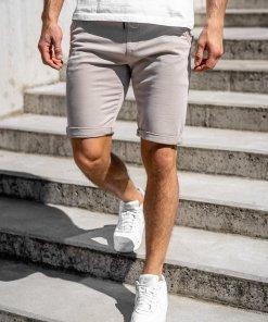 Pantaloni scurti bej barbati Bolf KG3722