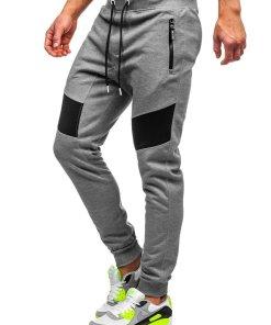 Pantaloni de trening gri barbati Bolf TC930