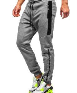 Pantaloni de trening gri barbati Bolf Q1040