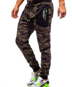 Pantaloni de trening military verde Bolf TC876