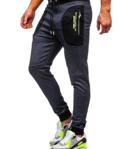 Pantaloni de trening bleumarin barbati Bolf TC848