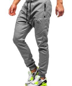 Pantaloni de trening gri Bolf Q1042