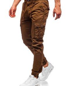 Pantaloni cargo joggers maro barbati Bolf CT6703