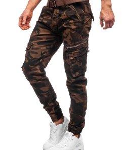 Pantaloni cargo maro cu curea barbati Bolf CT67015