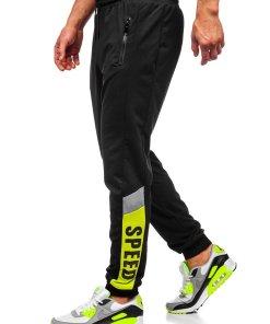 Pantaloni de trening joggers negri Bolf HY717